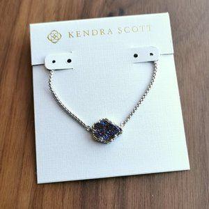 Kendra Scott Tess Silver Necklace multicolor Drusy
